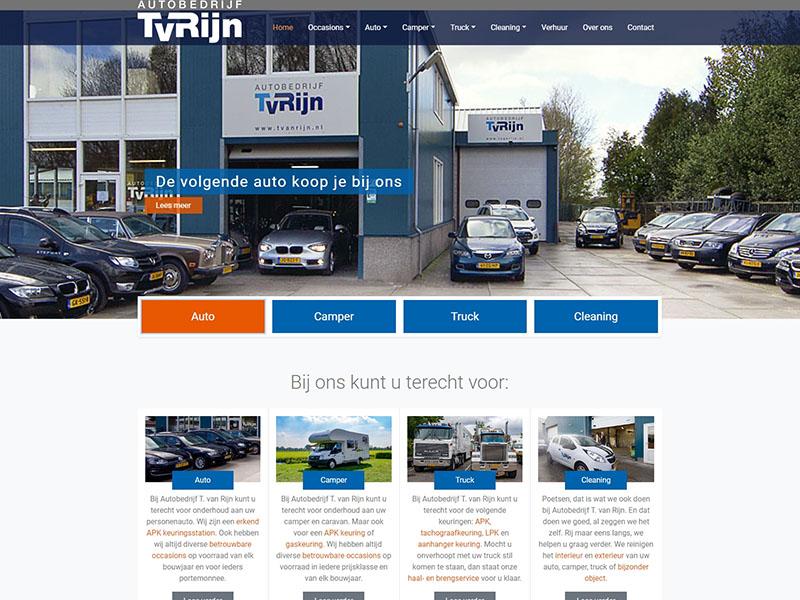 Website - Autobedrijf T. van Rijn