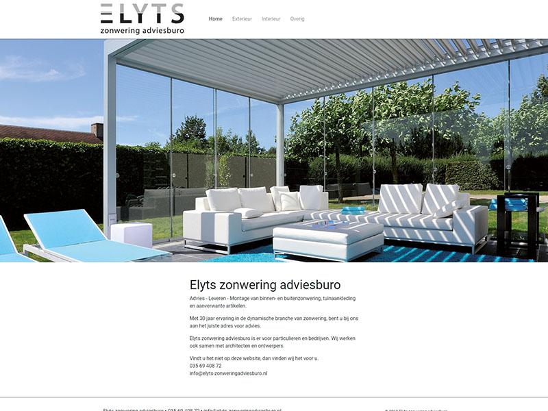 Website - Elyts zonwering