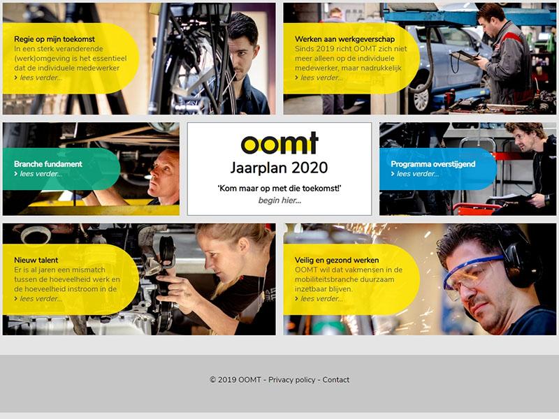 Website - OOMT jaarplan 2020
