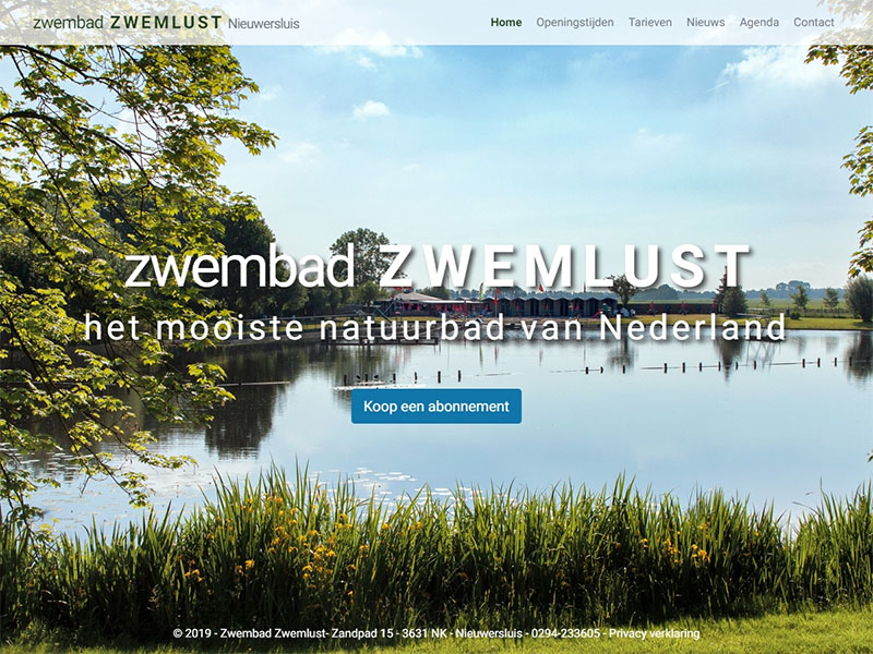 Website - Zwemlust